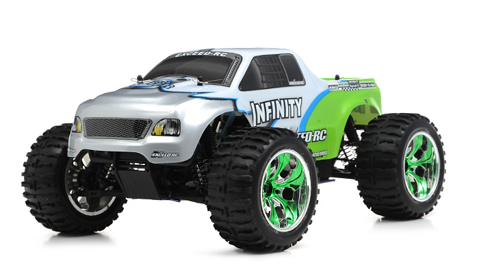 Rc Trucks Green : Ghz exceed rc infinitive nitro gas powered rtr off