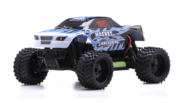 Shock Monster Magnet >> 1/16 2.4Ghz Exceed RC Magnet EP Electric RTR Off Road Truck Fire Blue