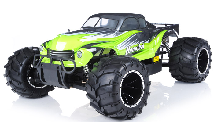 monster truck radio car 1 5th giant scale exceed rc hannibal 30cc gas engine remote controlled. Black Bedroom Furniture Sets. Home Design Ideas