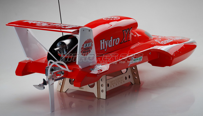 Exceed Racing FiberGlass HYDRO X1 26CC Gas Powered ARTR Almost Ready to Run HydroPlane Speed Boat