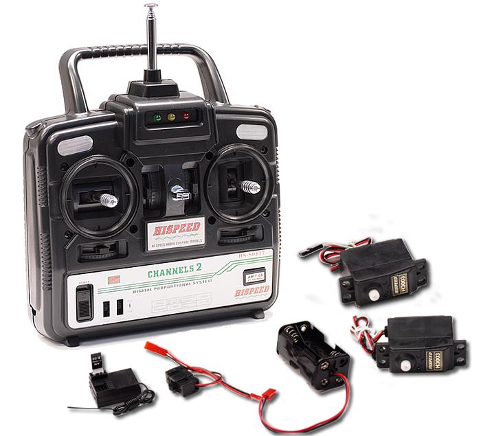 Hispeed 2 Channel Rc Transmitter Kit Tx Rx 2 Servos